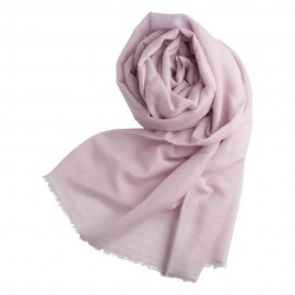 Lavender pashmina shawl in cashmere and silk