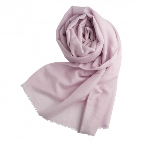 Lavender pashmina shawl in cashmere and silk