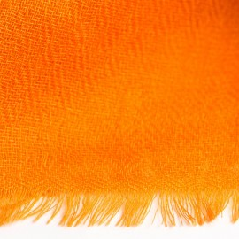 Orange pashmina stole in diamond weave