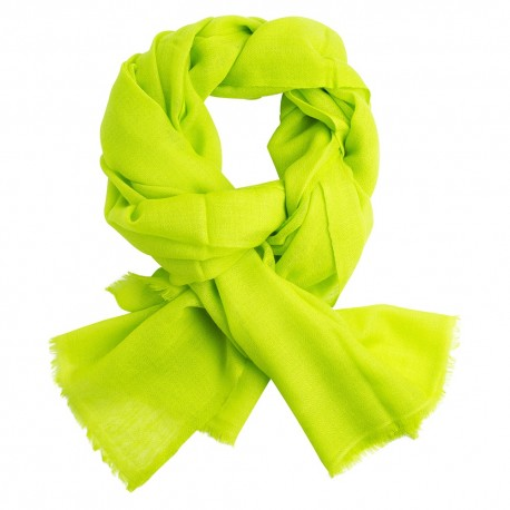 Lime green pashmina stole in diamond weave