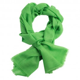 Vibrant green pashmina stole in diamond weave