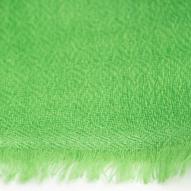 Grass green pashmina stole in diamond weave