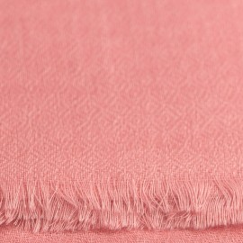 Pink pashmina stole in diamond weave