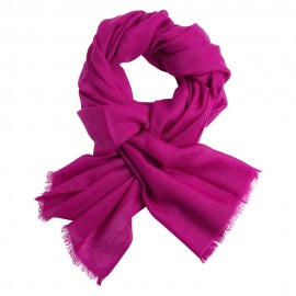 Violet pashmina stole in diamond weave