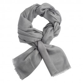 Light grey jacquard pashmina shawl
