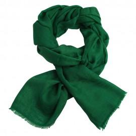 Dark green jacquard pashmina shawl