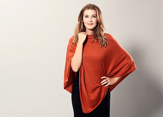 knitted cashmere poncho