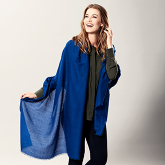 Shawls in cashmere and silk